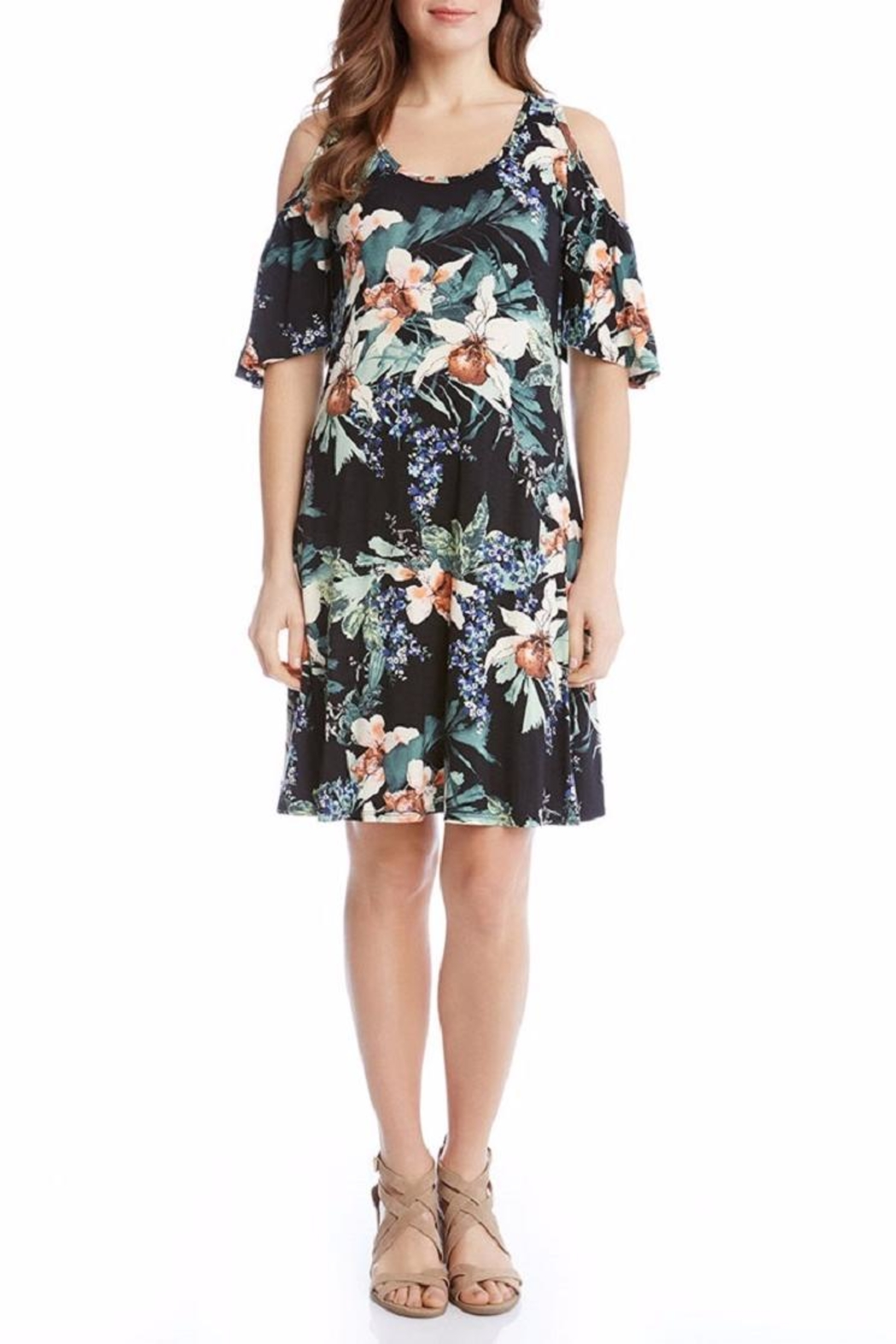 Karen Kane Orchid Cold Shoulder Dress - Side Cropped Image