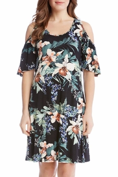 Shoptiques Product: Orchid Cold Shoulder Dress