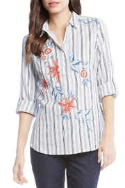 Karen Kane Roll Tab Shirt - Product Mini Image