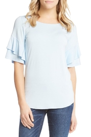 Karen Kane Ruffle Sleeve Top - Product Mini Image