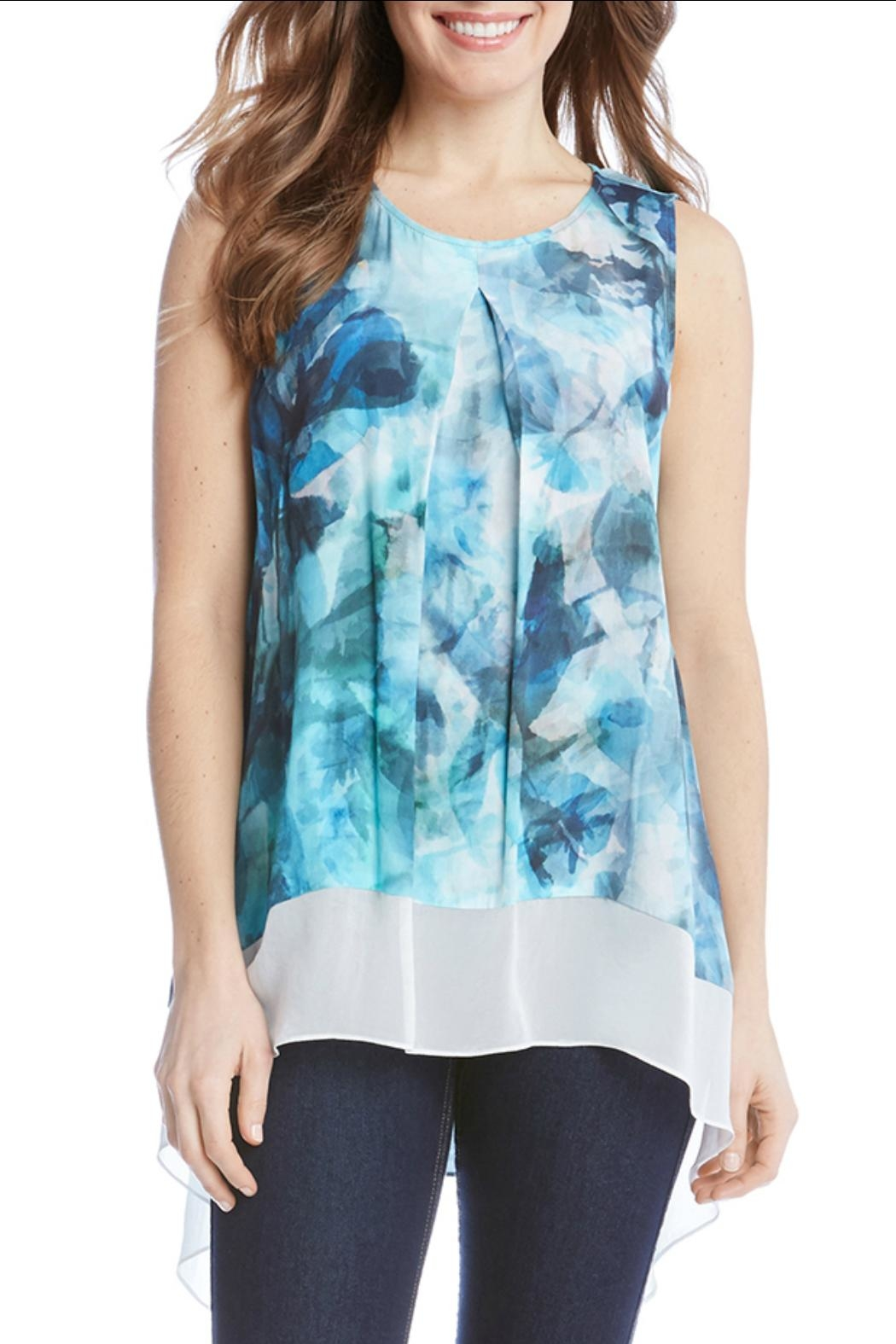 Karen Kane Sea Glass Top - Front Full Image