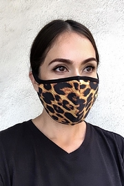 Karen Michelle Animal Print Face Mask - Front cropped