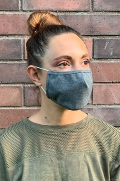Karen Michelle Black Denim Face Mask (Unisex) - Product List Image