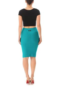 Karen Michelle Bright Fitted Pencil Skirt - Alternate List Image