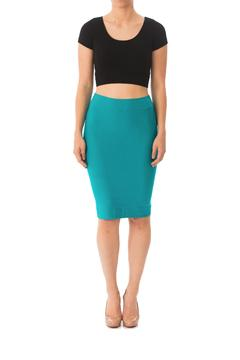 Karen Michelle Bright Fitted Pencil Skirt - Product List Image