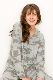 Karen Michelle Camo Print Long Sleeve Hoodie - Product Mini Image