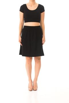 Karen Michelle Cotton-Spandex Pocket Skirt - Product List Image