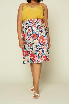 Karen Michelle Floral Print Plus Soft As Silk Skirt - Alternate List Image