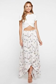 Shoptiques Product: Floral Printed Wrap Skirt