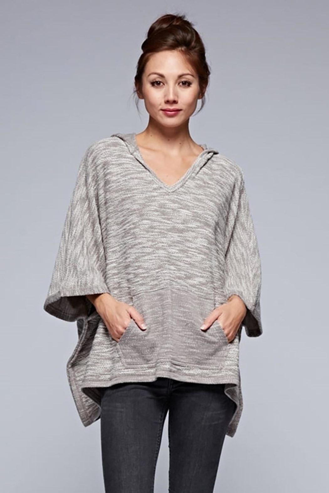 Karen Michelle French Terry Poncho Grey - Main Image