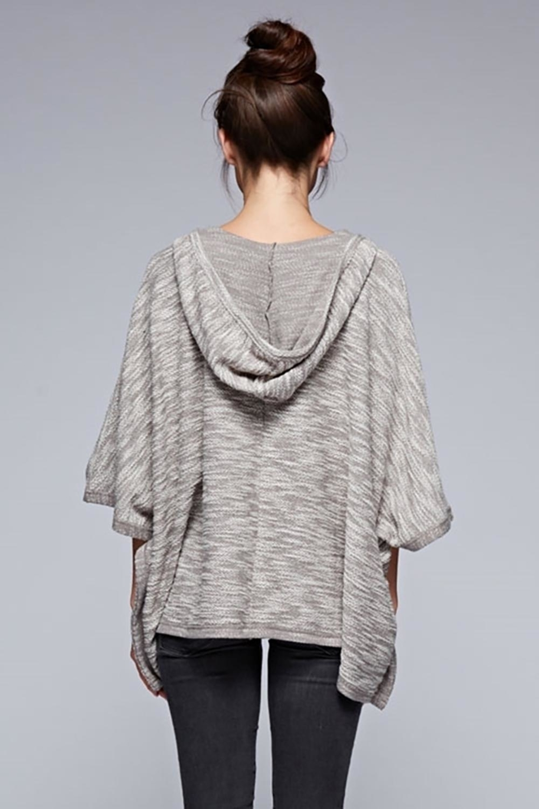 Karen Michelle French Terry Poncho Grey - Front Full Image