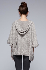Karen Michelle French Terry Poncho Grey - Front full body