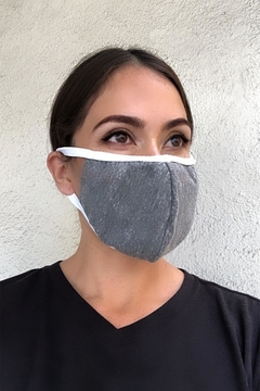Karen Michelle Grey With White Band Face Mask - Alternate List Image
