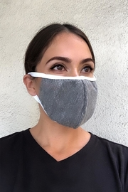 Karen Michelle Grey With White Band Face Mask - Product Mini Image