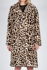 Karen Michelle Leopard Faux Fur Maxi Coat - Product Mini Image