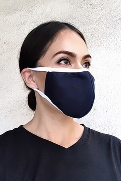Karen Michelle Navy With White Band Face Mask - Alternate List Image