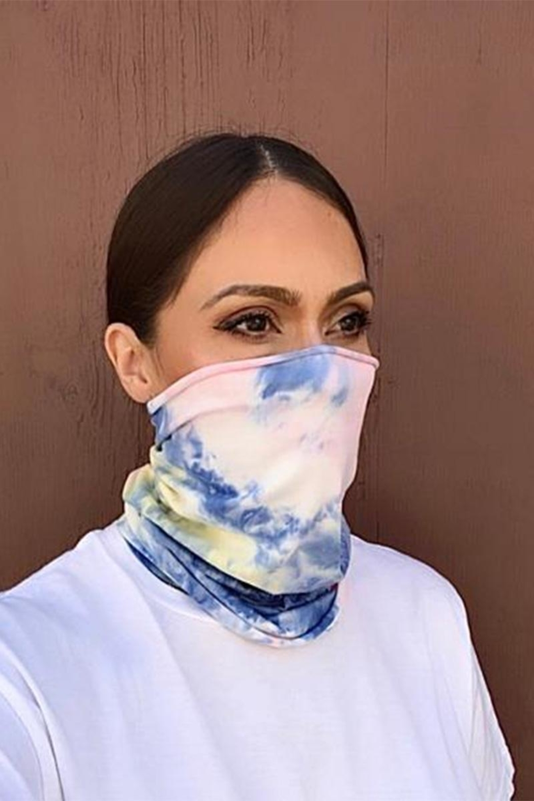 Karen Michelle Neck Bandana Cotton Candy - Front Cropped Image
