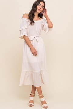 Karen Michelle Off The Shoulder Ruffle Tiered Midi Dress - Product List Image