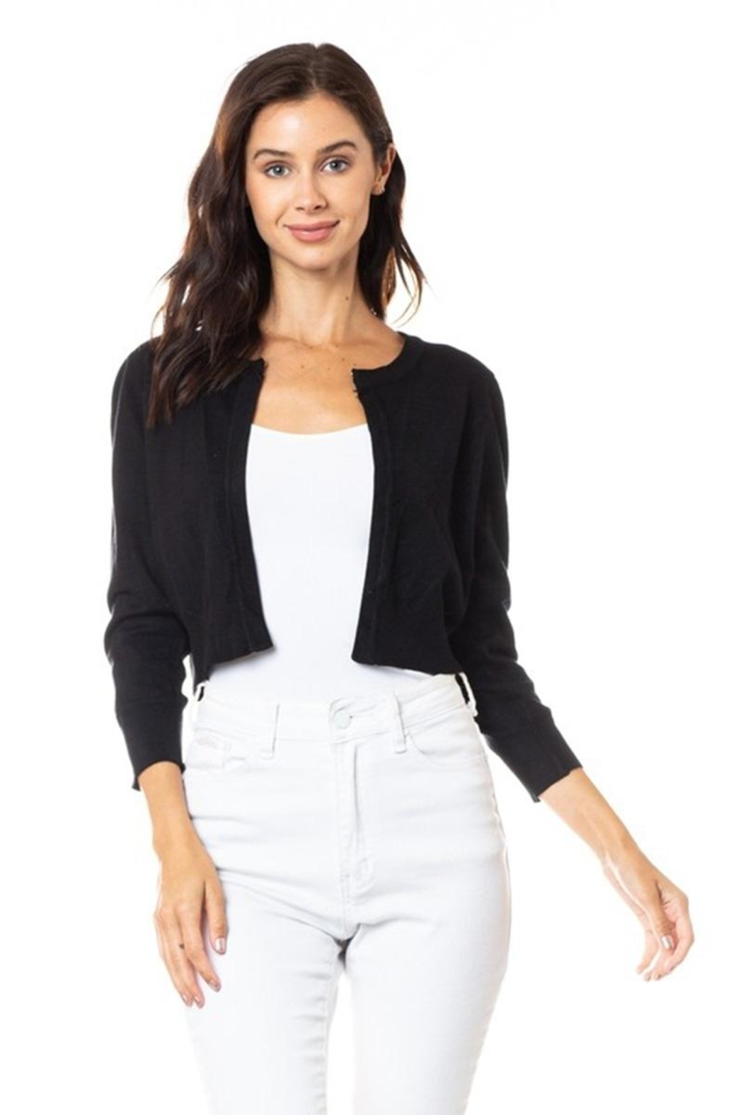 Karen Michelle Open Shrug With Neckline Closure - Main Image