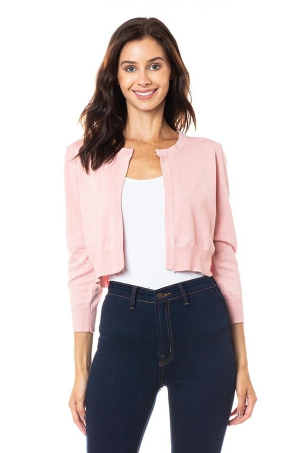 Karen Michelle Open Shrug With Neckline Closure - Front Cropped Image