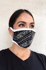 Karen Michelle Paisley Face Mask - Front cropped