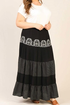 Karen Michelle Plus-Size Embroidered Maxi Skirt - Product List Image