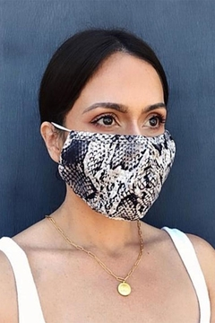 Shoptiques Product: Snakeskin Face Mask Pack Of 3
