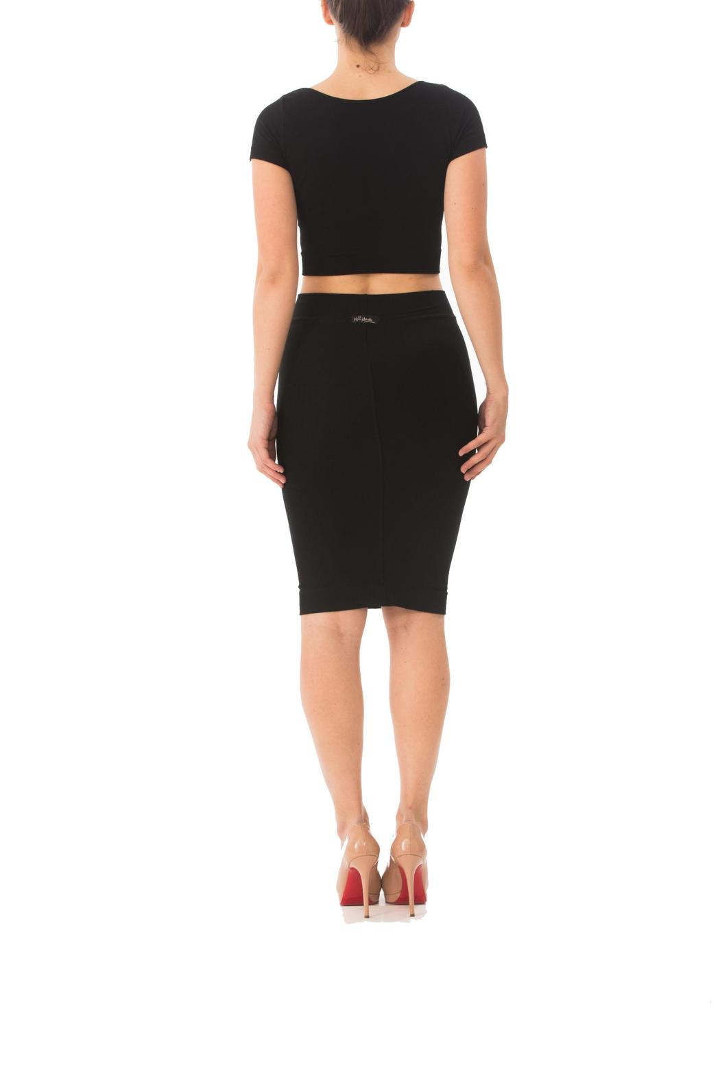 solid fitted pencil skirt from los angeles
