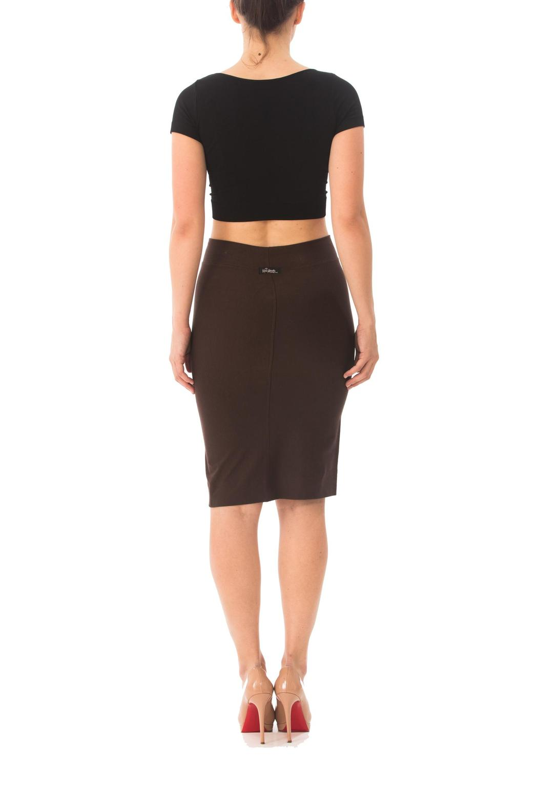 Karen Michelle Solid Fitted Pencil-Skirt from Los Angeles ...