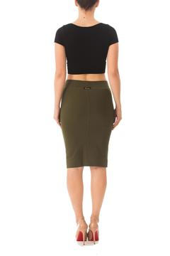 Karen Michelle Solid Fitted Pencil-Skirt - Alternate List Image