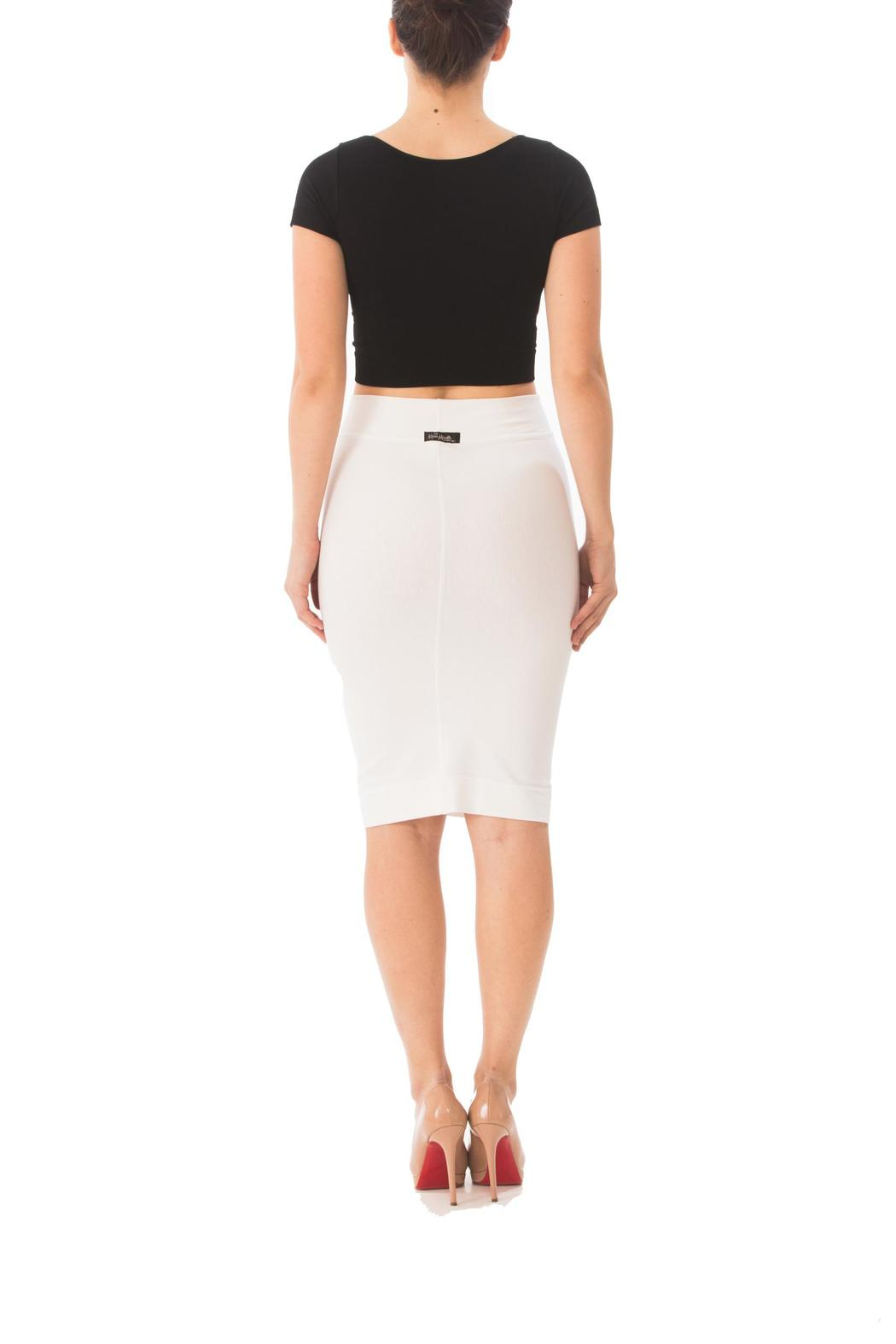Karen Michelle Solid Fitted Pencil-Skirt from Los Angeles by Karen ...