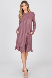 Karen Michelle Striped Midi Dress - Product Mini Image
