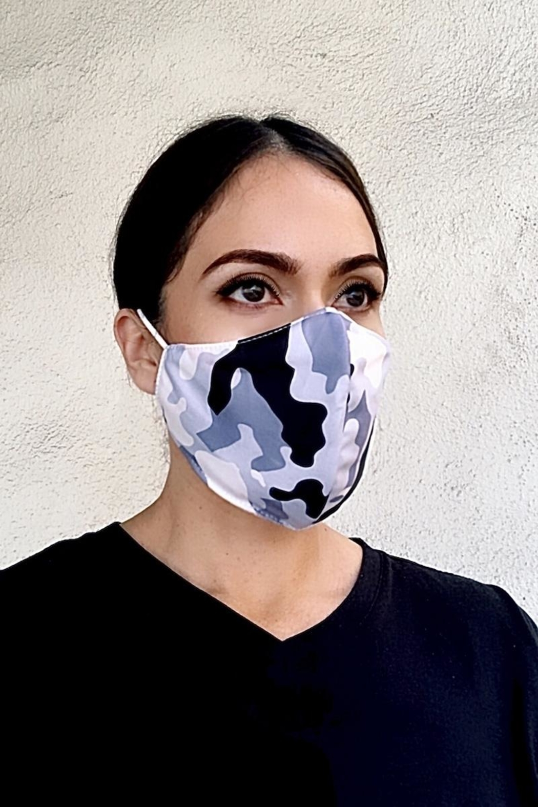 Karen Michelle White Camo Mask - Main Image