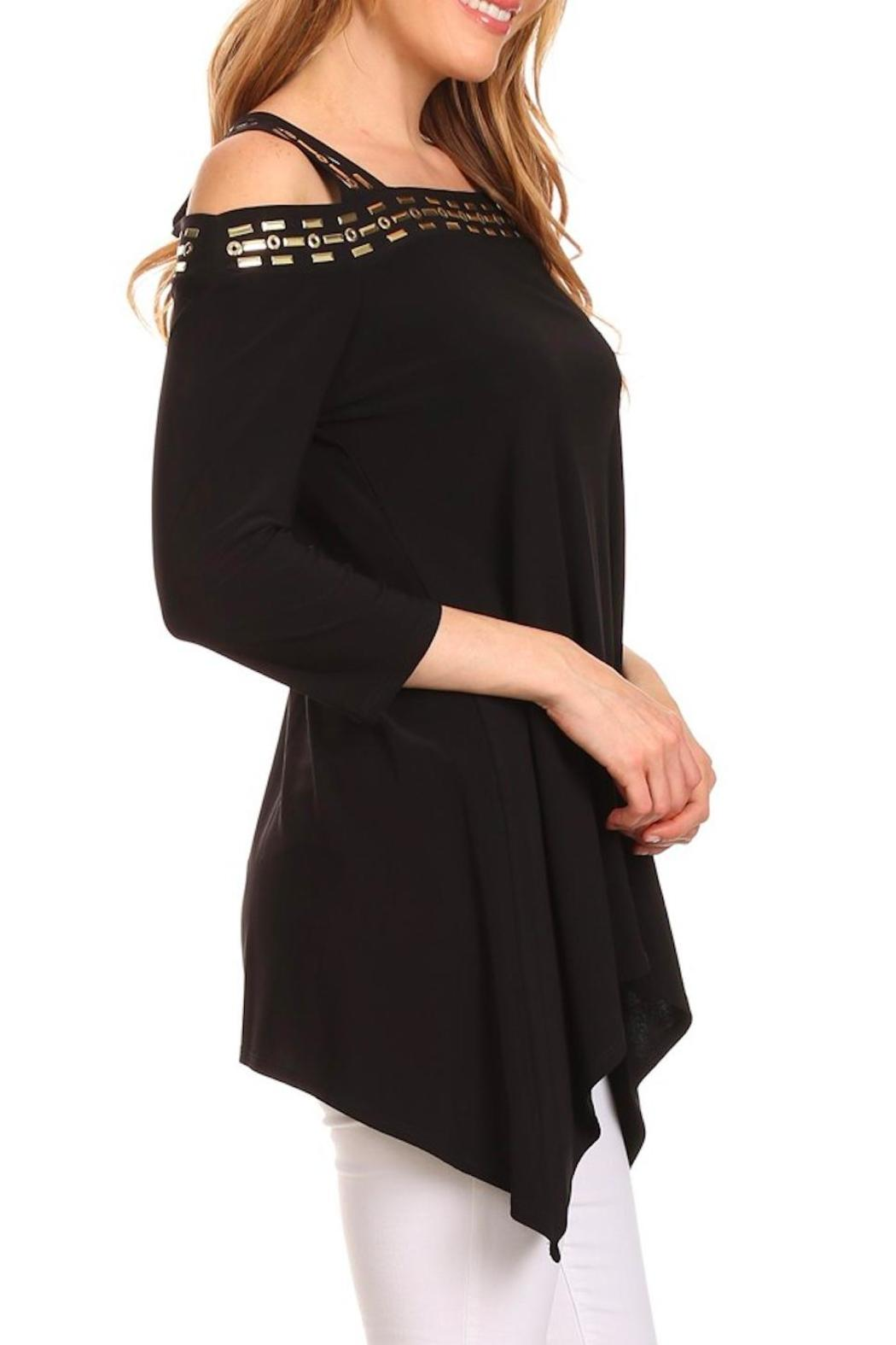Karen T Designs 3/4 Sleeve Tunic - Back Cropped Image