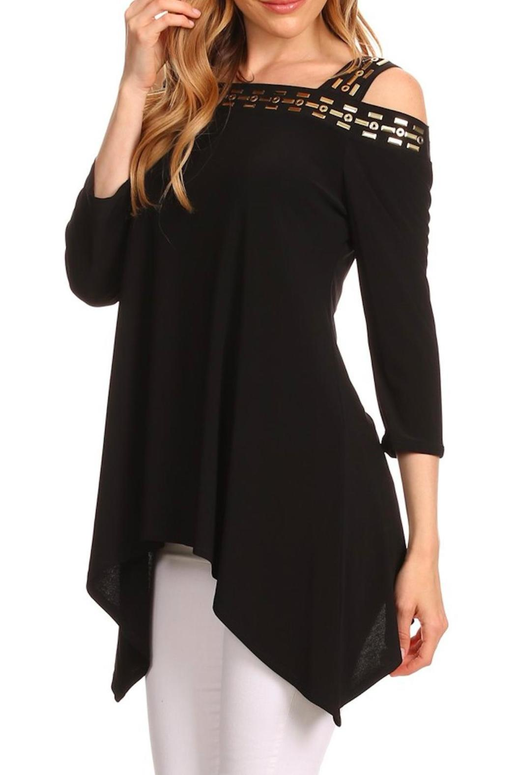 Karen T Designs 3/4 Sleeve Tunic - Side Cropped Image