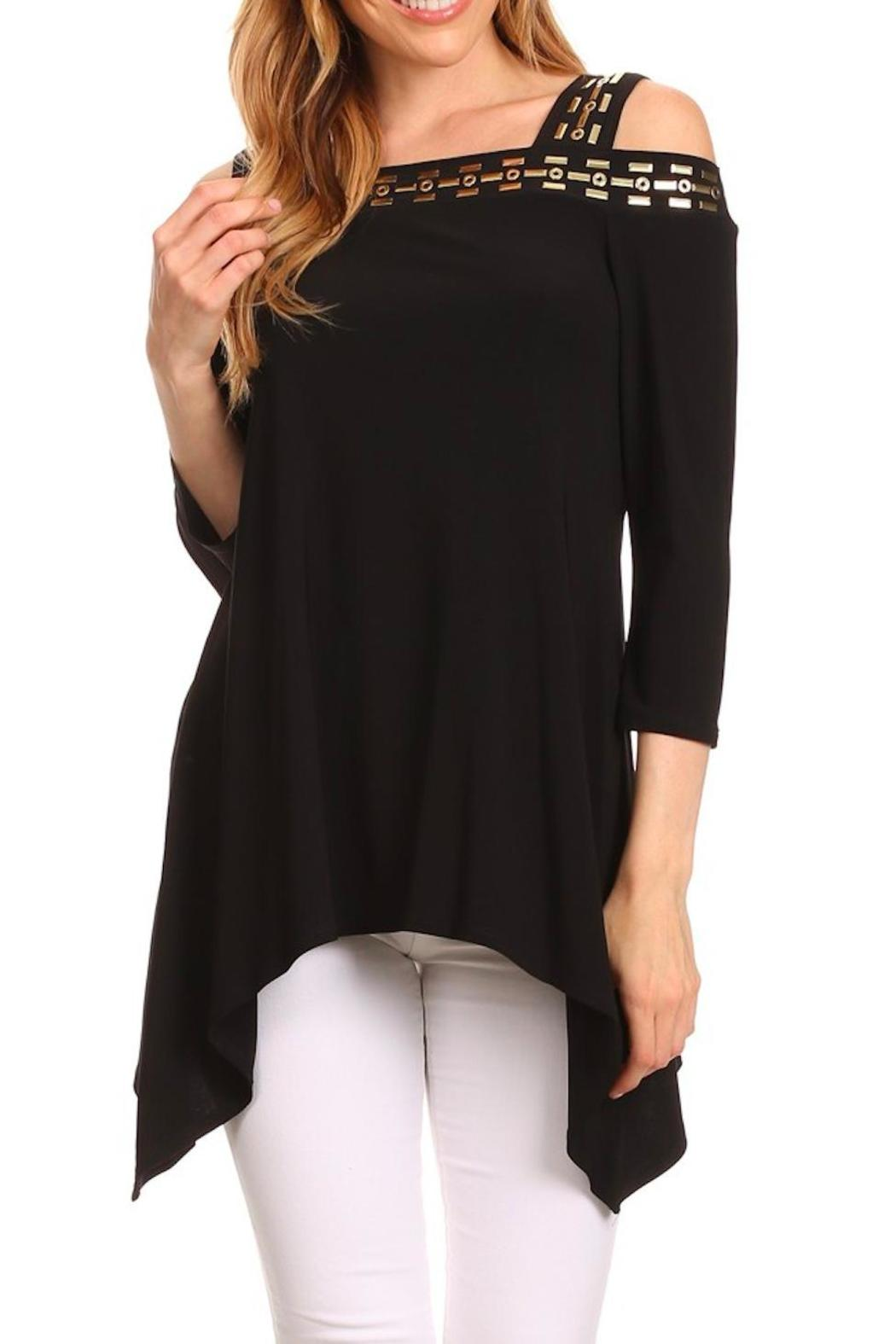 Karen T Designs 3/4 Sleeve Tunic - Front Cropped Image