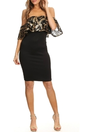 Karen T Designs Off-The-Shoulder Sequin Dress - Product Mini Image
