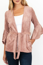 KUT Karina Belted Bell Sleeve Jacket - Product Mini Image