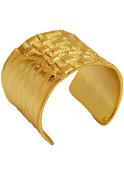 Karine Sultan Paris Basket-Weave Cuff Bracelet - Product Mini Image