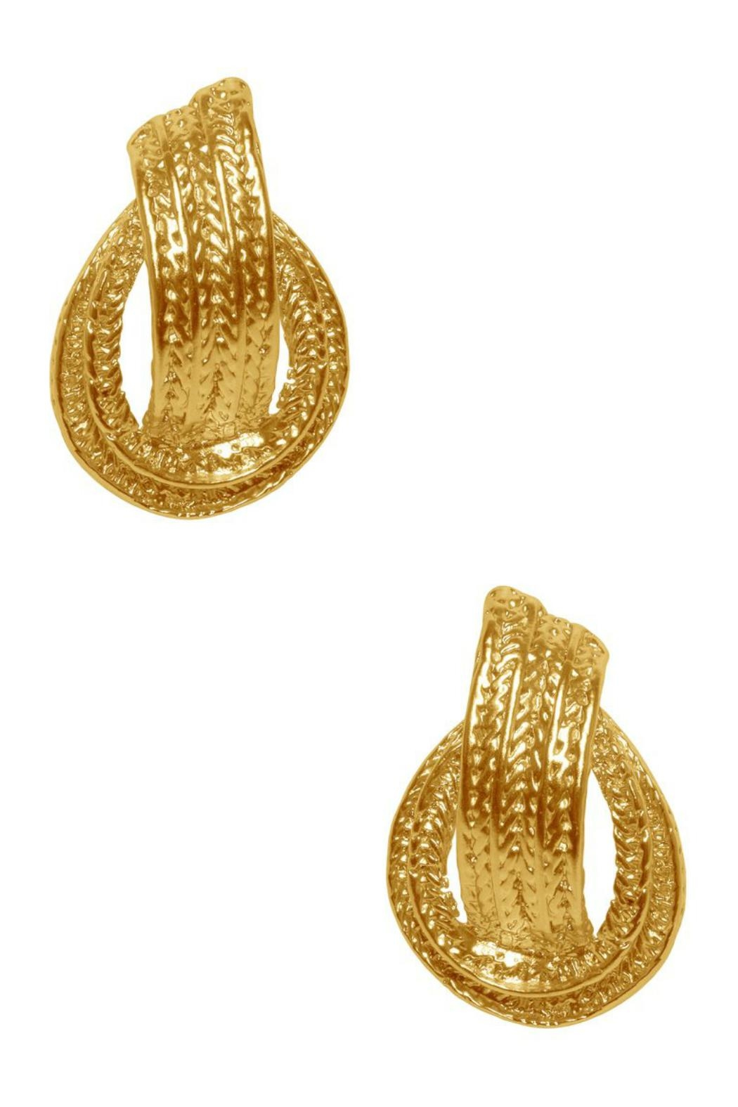 Karine Sultan Paris Bold Statement Earrings - Front Cropped Image