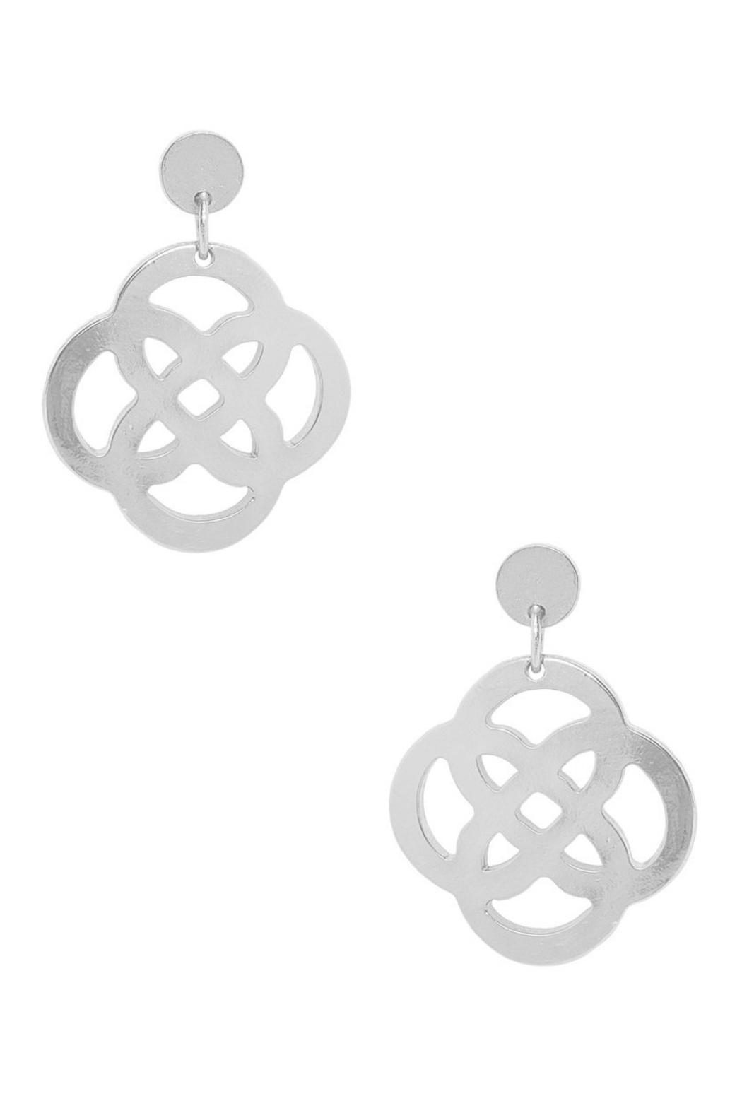 Karine Sultan Paris Celtic Knot Earrings - Front Cropped Image