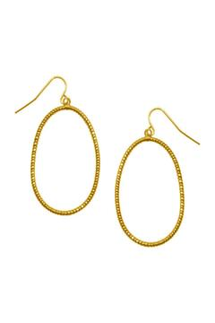 Shoptiques Product: Gold Oval Earrings