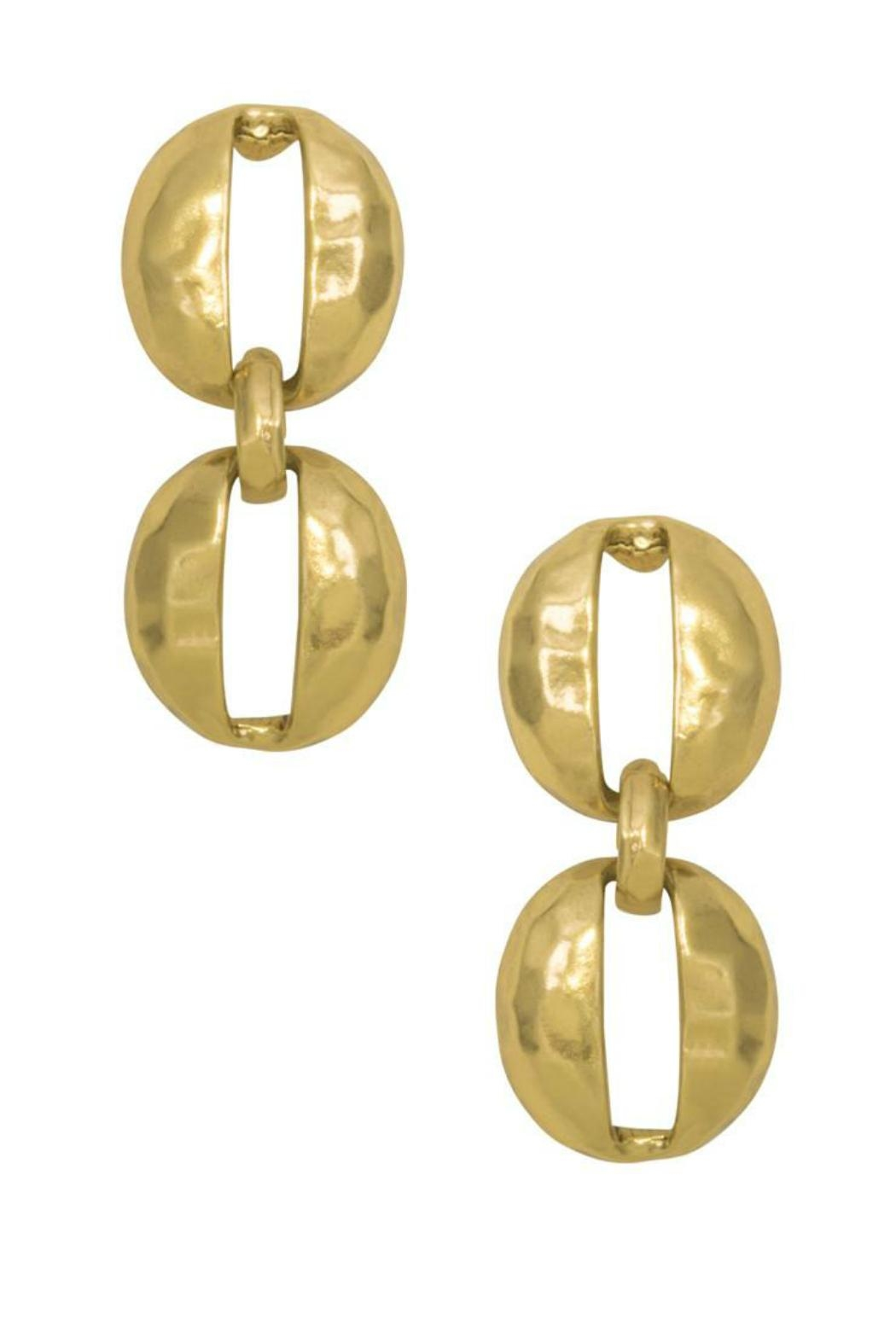 Karine Sultan Paris Oval Shell Earring - Main Image