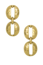 Karine Sultan Paris Oval Shell Earring - Product Mini Image