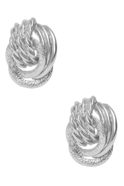 Karine Sultan Paris Silver Clip Earrings - Product Mini Image