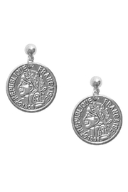Karine Sultan Paris Silver Coin Earring - Product Mini Image