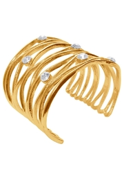 Karine Sultan Paris Wavy Crystaled Cuff - Product Mini Image