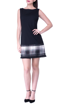 Atina Cristina Karissa ponte & plaid hem dress - Alternate List Image