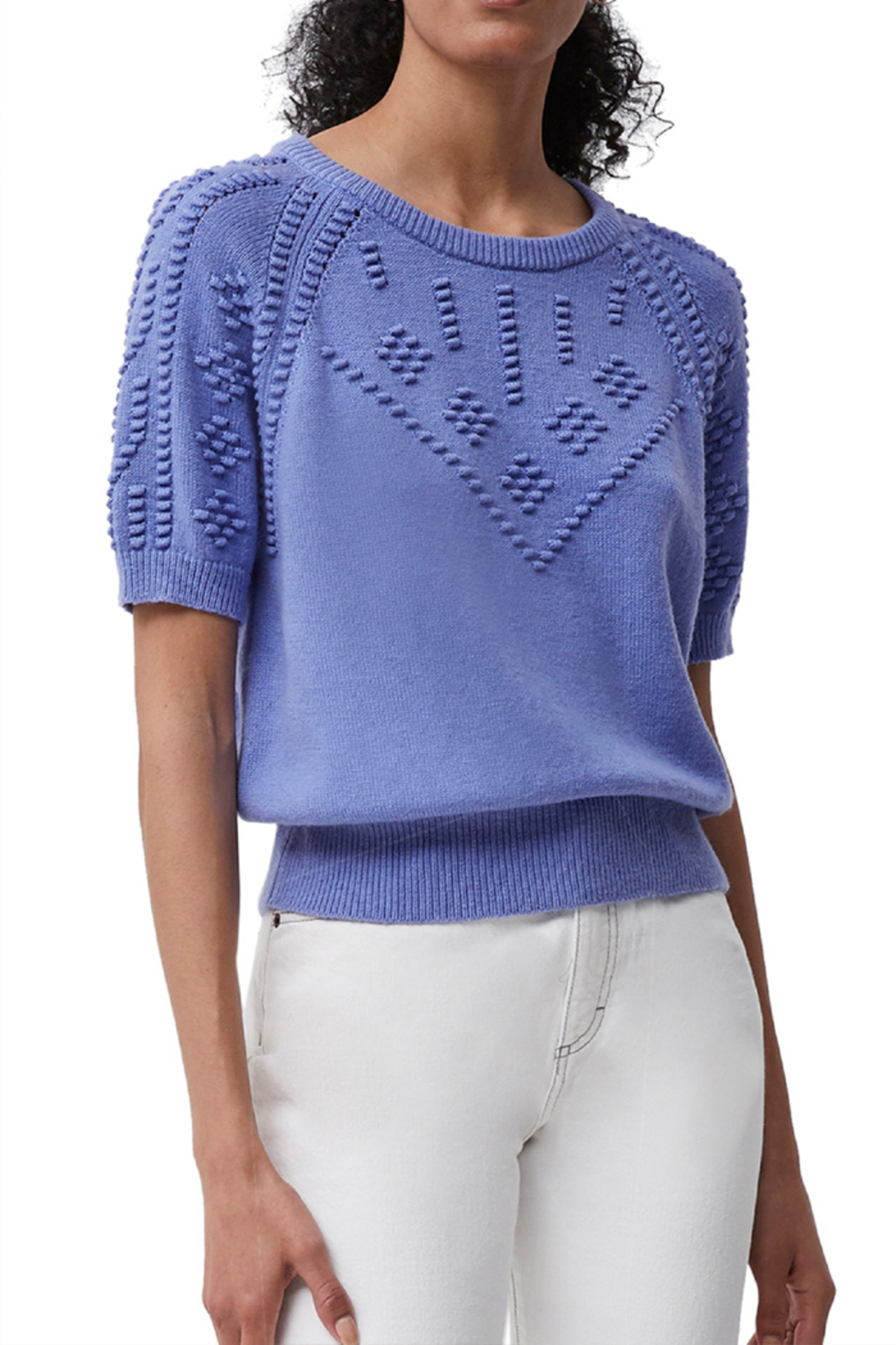 French Connection Karla Knitted Short Sleeve Jumper - Main Image