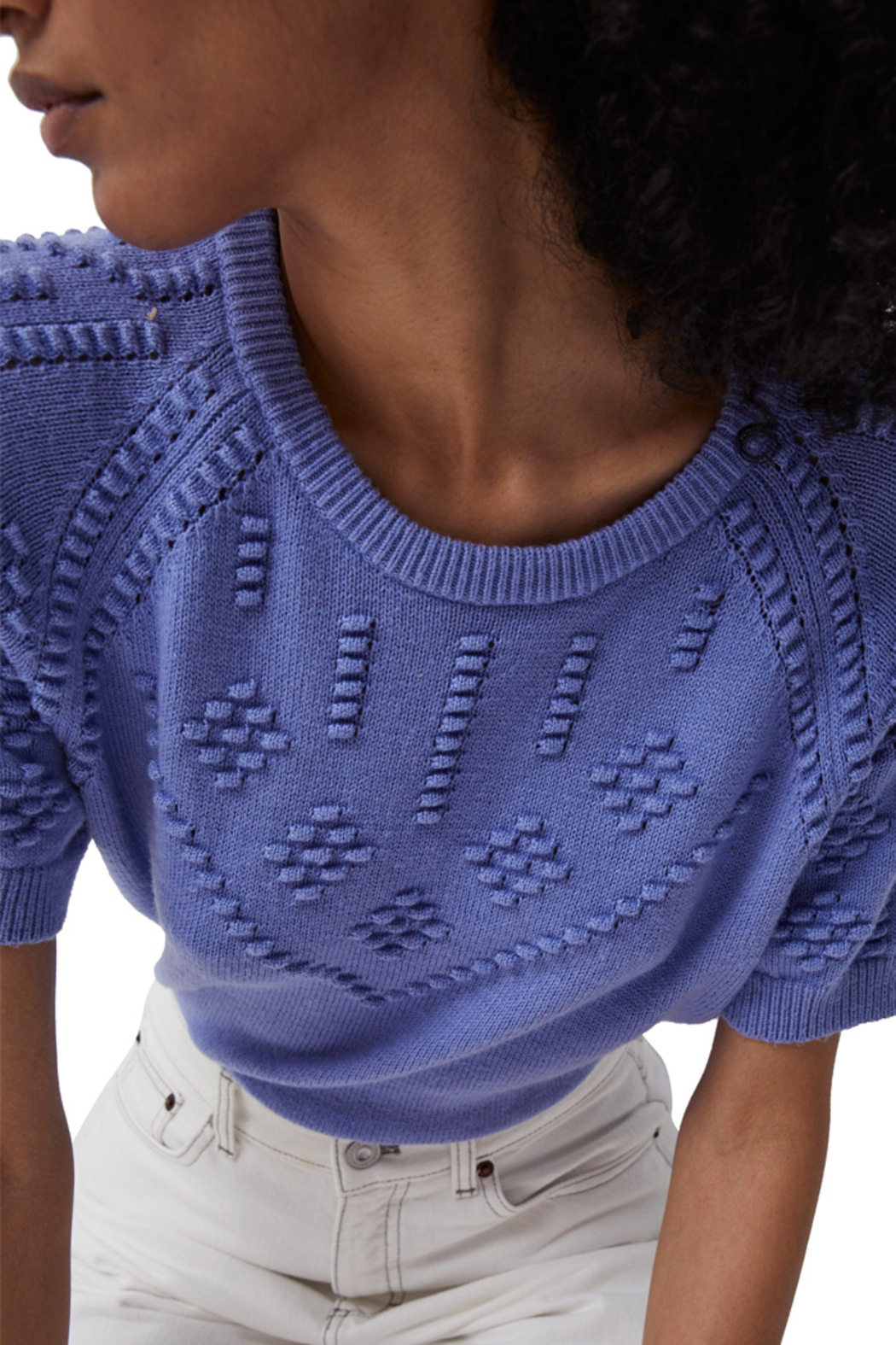 French Connection Karla Knitted Short Sleeve Jumper - Side Cropped Image